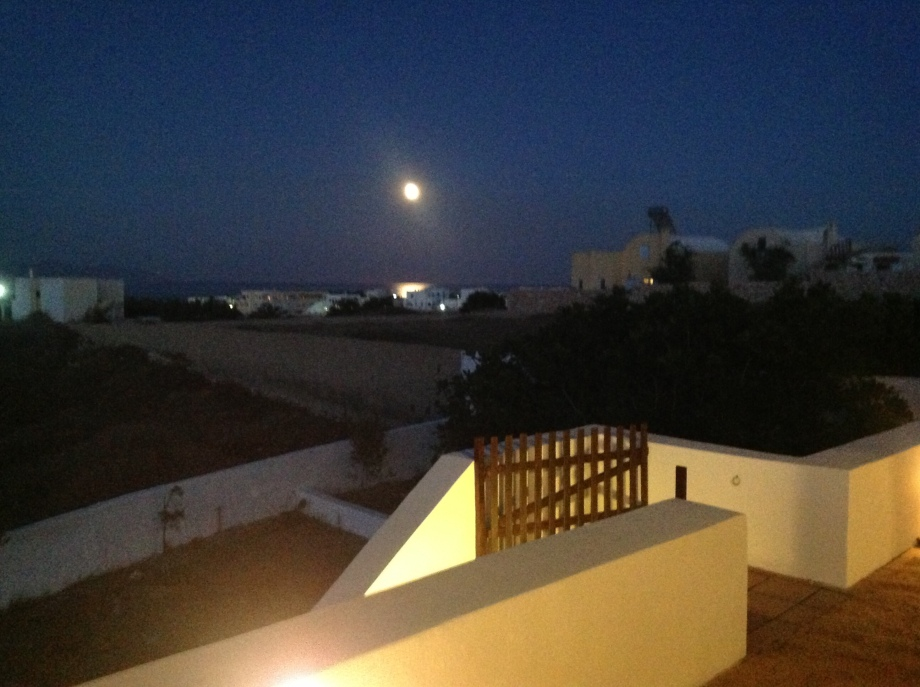 A spectacular vista towards the sea on the rise of the June full moon